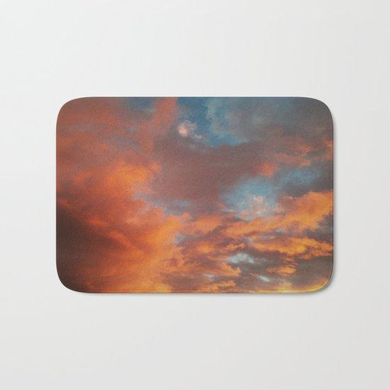 Clouds on Fire Bath Mat