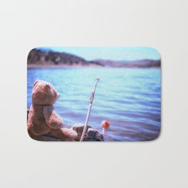 Have you ever seen a bear fishing? Bath Mat