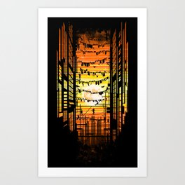 the wires Art Print