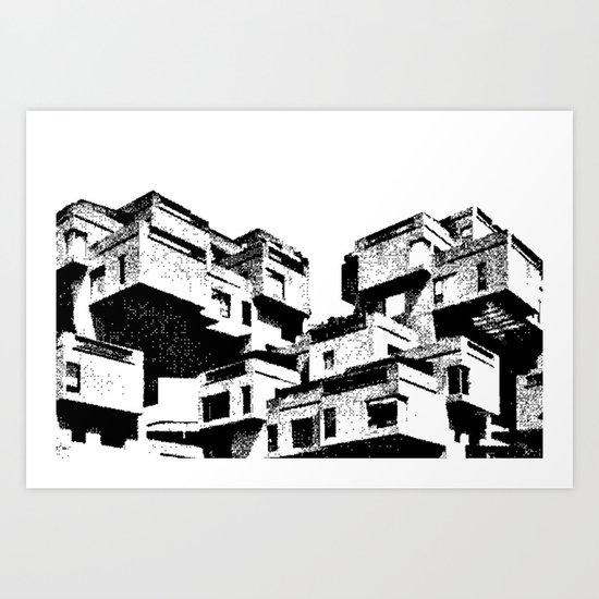 Modern Architecture Prints habitat 67 - modern architecture b&w art printarchu design