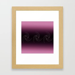 Swirl Sparkle on Burgundy Framed Art Print