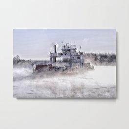 Sugar Islander Ferry Winter Fog Metal Print