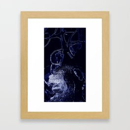 Inorganic blue 2 Framed Art Print
