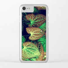 Plant Art, Simply Leaves Clear iPhone Case