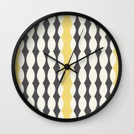 Nostalgic Brighton in Charcoal/Sun Wall Clock