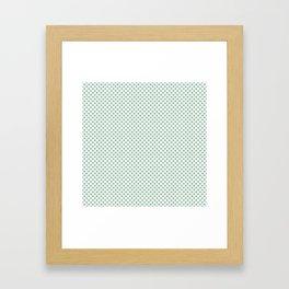 Grayed Jade Polka Dots Framed Art Print