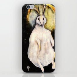 Rabbit with Moon iPhone Skin