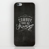 lyrics iPhone & iPod Skins featuring LYRICS - Cowboy by Molly Freze