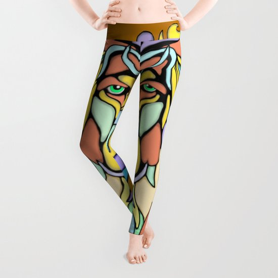 Metallic Lion Leggings