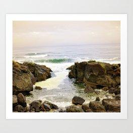Yachats Oregon - Upon The Rocks Art Print