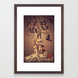 Meditations on Murder - nbc Hannibal Framed Art Print
