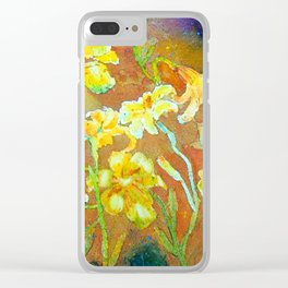 Daylily Jungle Clear iPhone Case