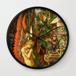 Portrait of the Goddess Saturn by Gustave Moreau Wall Clock