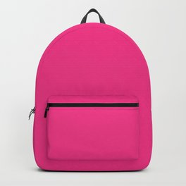 Bright Violet Red Simple Solid Color All Over Print Backpack