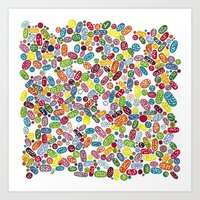 pills Art Prints featuring Pills by Eleacuareling