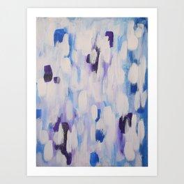 Blue rain of hope Art Print