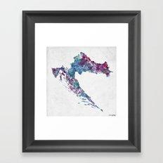 Croatia map Framed Art Print