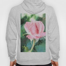 Pink Rose Wall Decor Hoody