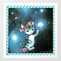 Space Witch Cat handcut collage by georgiewatts1