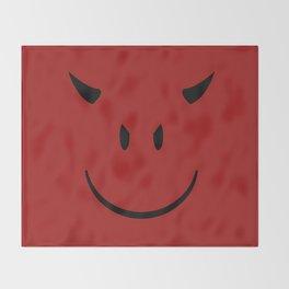 Smiley Devil Throw Blanket