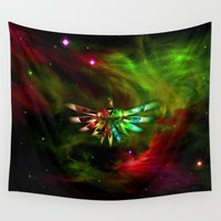 triforce Wall Tapestries featuring Zelda Triforce  by Inara