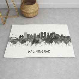 Kaliningrad Russia Skyline BW Rug