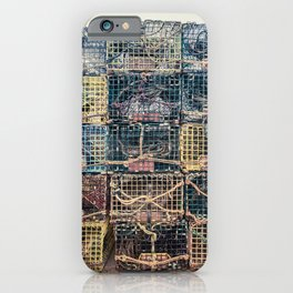Lobster Traps Kennebunkport Maine Fisherman Dock Wharf New England Atlantic iPhone Case