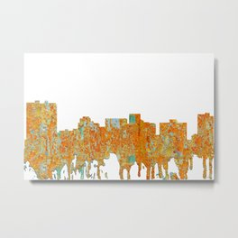 Arlington, Texas Skyline - Rust Metal Print