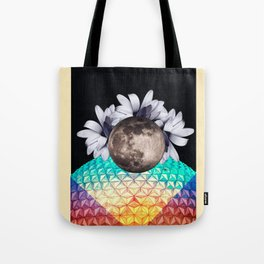 Beyond the moon and back Tote Bag