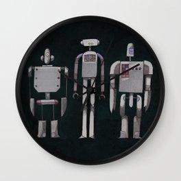 Three robots Wall Clock