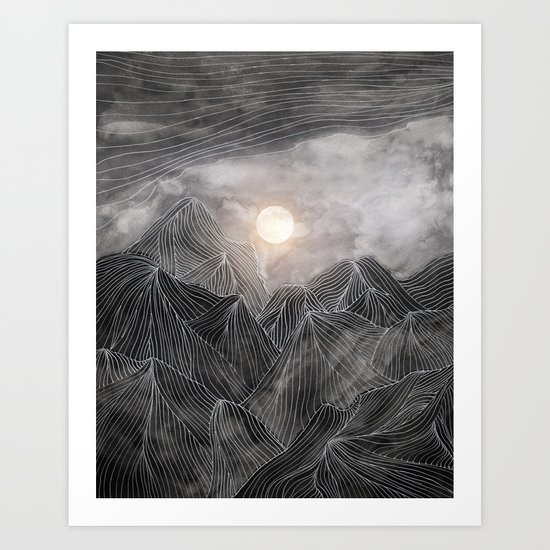 Lines in the mountains VIII Art Print