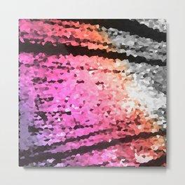 Lavender Pink Peach Crystal Texture Metal Print