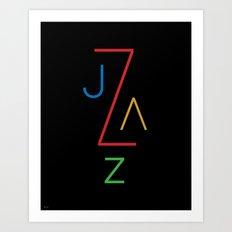Jazz Type Art Print