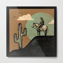 Wild West Metal Print
