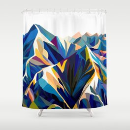 Mountains cold Shower Curtain