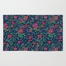 Pixel Flowers Rug