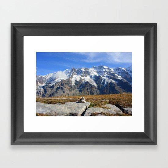 Trail Blazing the Alps Framed Art Print