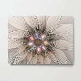 Joyful Flower, Abstract Fractal Art Metal Print