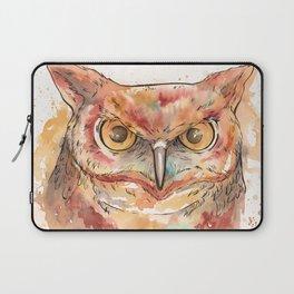 Watercolor Owl Laptop Sleeve