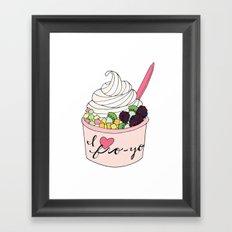 I Heart Fro-Yo Framed Art Print