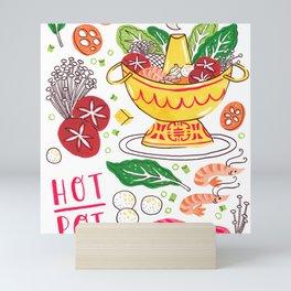 Hot Pot Shabu Shabu Soup Mini Art Print
