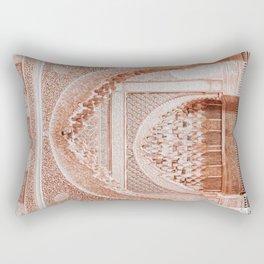 Islamic Geometric Moroccan Architecture Middle Eastern Oriental Boho Style Rectangular Pillow