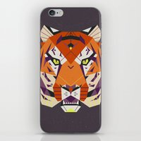 fierce iPhone & iPod Skins featuring Fierce by Nayla Smith