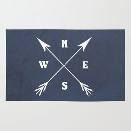 Compass arrows Rug