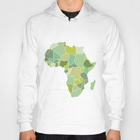 south africa Hoodies featuring Africa by Emir Simsek