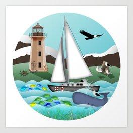 Nautical Goodies Art Print