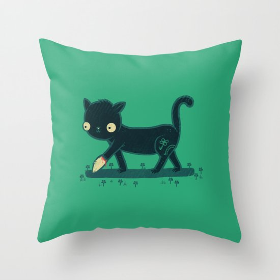 Make Your Own Luck Throw Pillow