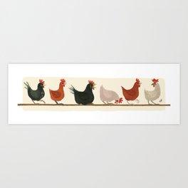 CHICKEN LADIES Art Print