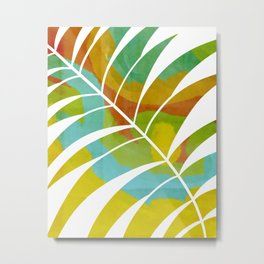 Vivid Palm Leaf (Part 1/2) Metal Print