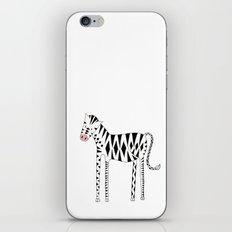 Long legs Zebra iPhone & iPod Skin